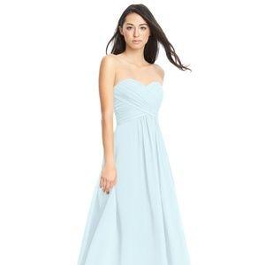 Azazie Yazmin Bridesmaid Dress, Size 2, Mist